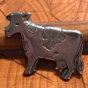 JAMES AVERY   Sterling Silver Cow Brooch